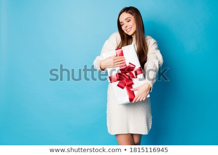 beautiful woman wearing red ribbon stock photo © konradbak