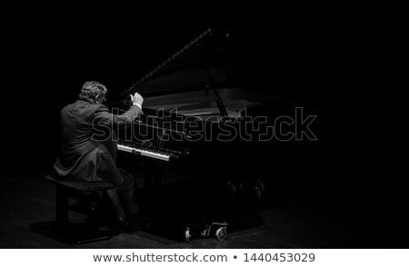 portret · mannelijke · muzikant · spelen · piano · fase - stockfoto © wavebreak_media