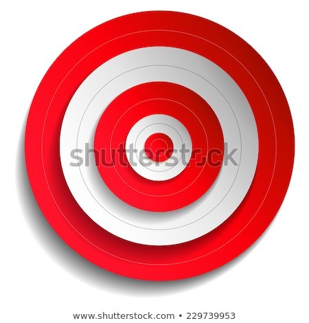 Stock photo: Shooting Target Vector. Paper Shooting Target For Shooting Competition. Illustration