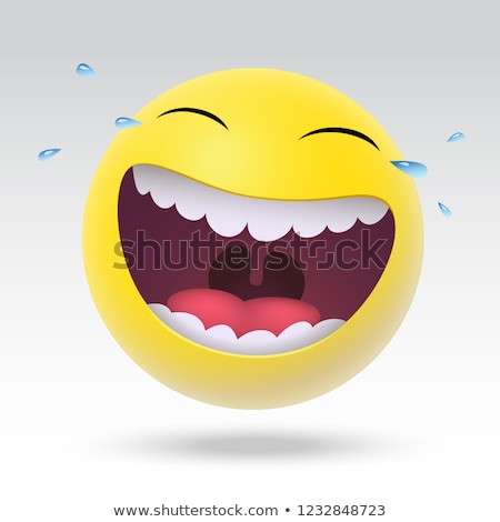 Zabawy śmiech 3d ilustracji podpisania czerwony graficzne Zdjęcia stock © 72soul
