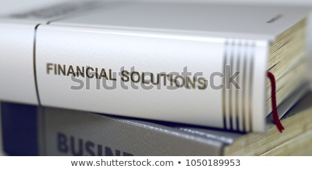 ストックフォト: 予算 · ビジネス · 図書 · タイトル · 3次元の図 · スタック
