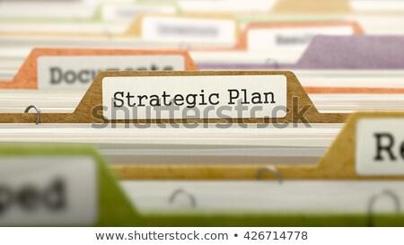 Dossier plan stratégique 3D archive carte Photo stock © tashatuvango
