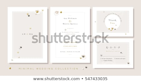 Wedding card or invitation with jewelry  Stock photo © Olena
