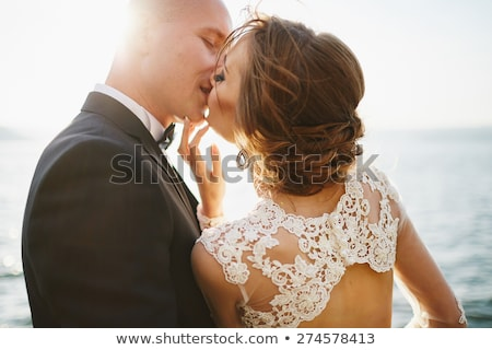 Young caucasian bridegroom laughing. Stock photo © RAStudio