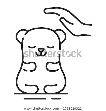 Ligne chinchilla animaux de compagnie icônes style Photo stock © Yuriy