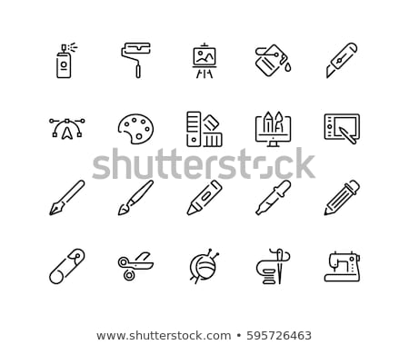 Icon of drawing,  hobby  Stock photo © Olena