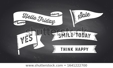 Black friday silhouette testo set vendita messaggio Foto d'archivio © romvo
