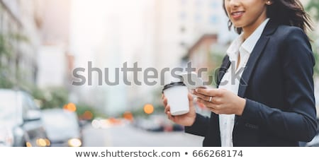 Business woman on lunch break Stock photo © IS2