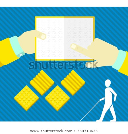 silhouette reading a book of blind people Stock photo © Olena
