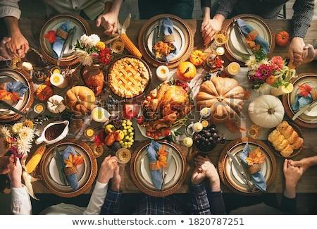 plaques · aliments · sains · blanche · table · de · cuisine · fruits - photo stock © simply