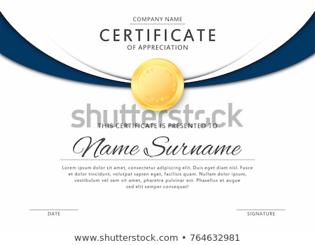 golden certificate template design vector stock photo © sarts