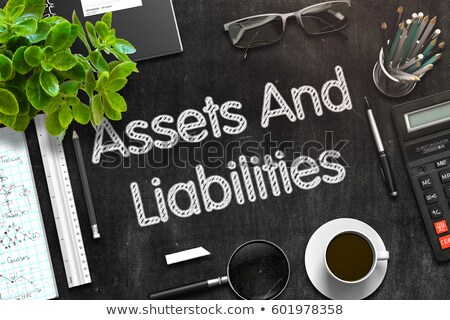 Black Chalkboard with Financial Assets. 3D Rendering. Stock photo © tashatuvango