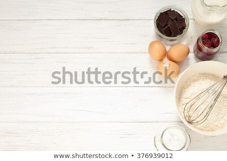 乳房 · 材料 · 木製のテーブル · 食品 · 光 - ストックフォト © homydesign