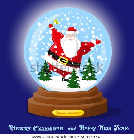 Funny Christmas Santa Snow Globe Stock photo © Lightsource