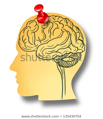 Health concept: Alzheimers Disease on Red Wall . Stock photo © tashatuvango