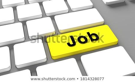 キーボード キー 3次元の男 指 青 ストックフォト © tashatuvango