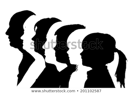 Portrait young girl and boy head to head Stock photo © IS2