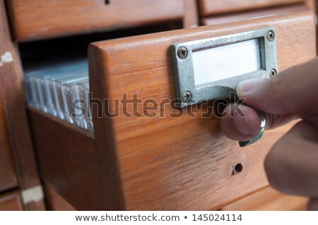 Archive Bookmarks of Card Index with Bank. Stock photo © tashatuvango