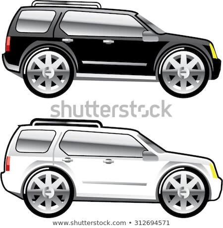 Large SUV stylized with large chrome Rims Vector stock photo © vectorworks51