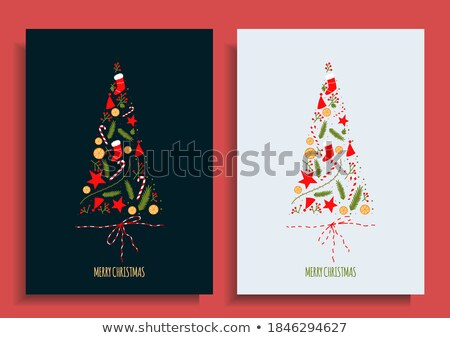 Christmas postcad with candies Stock photo © Sonya_illustrations