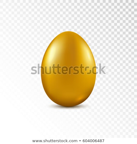 Golden Egg Isolated Transparent Background Stock photo © adamson