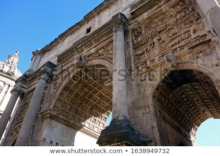Arch of Septimius Severus in Roman Forum, Rome Stock photo © ankarb
