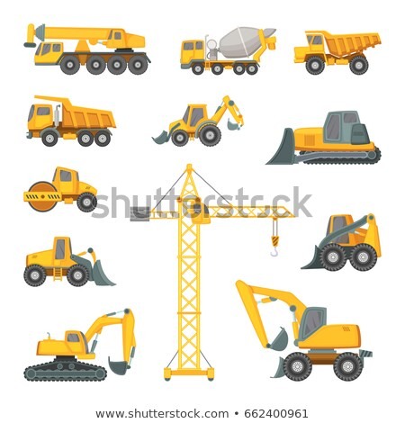 Loader excavator vector cartoon illustration. Stock photo © RAStudio