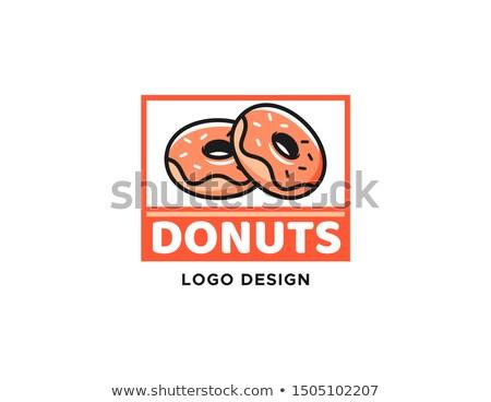 Pączek logo odizolowany wektora pączek naklejki Zdjęcia stock © robuart