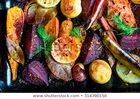 Roasted root vegetables Stock photo © fotogal