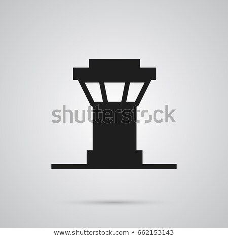 Trendy airport terminal with flight control tower Stock photo © studioworkstock