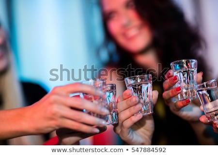 друзей стекла текила выстрел Бар Сток-фото © wavebreak_media