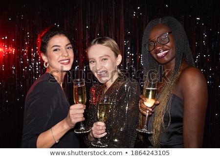 Stok fotoğraf: Genç · kadın · gece · kulübü · içmek · gülen