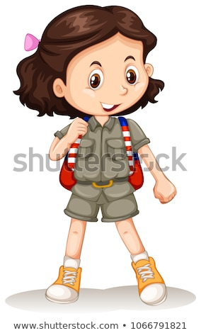 A Cute Zoo Keeper on White Background Stock photo © bluering