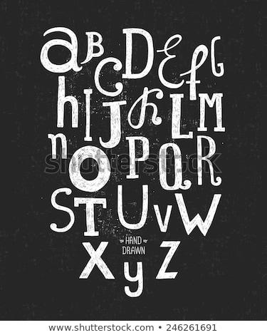 Stok fotoğraf: Kara · tahta · harfler · kroki · ikon · okul