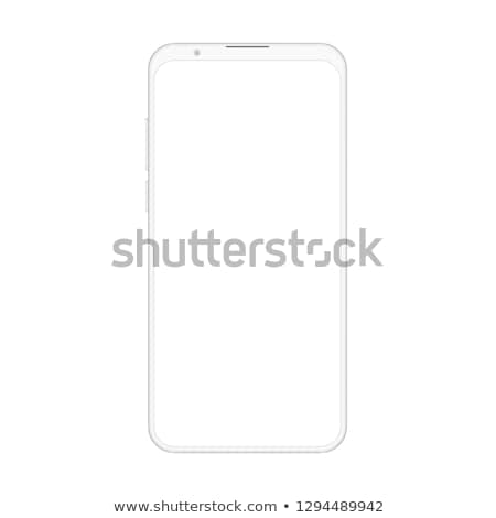 New version of smartphone with blank screen vector illustration. Frameless display smartphone. Stock photo © taufik_al_amin