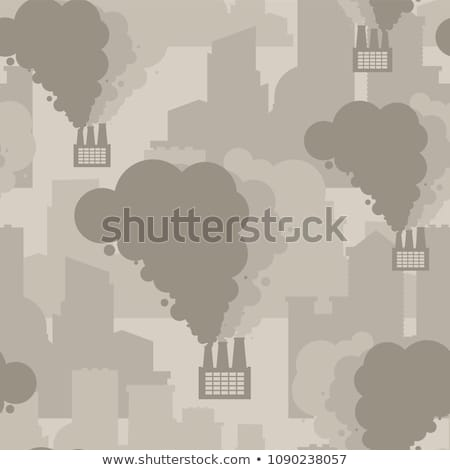 Industrial city pattern. Contaminated air. City in fog backgroun Stock photo © MaryValery