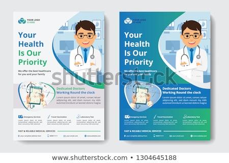 образовательный плакат медицинская помощь иллюстрация человека врач Сток-фото © bluering