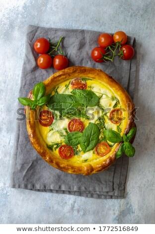 トマト フェタチーズ 食品 背景 チーズ 食事 ストックフォト © M-studio