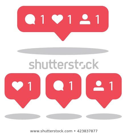 Notification icons social media notification. stock photo © AisberG