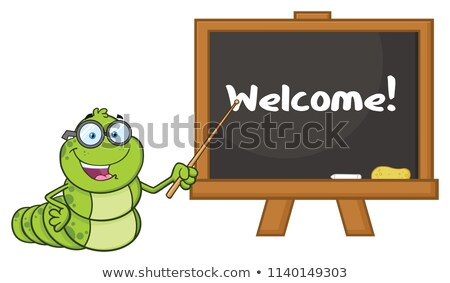 учитель очки указывая доске Сток-фото © hittoon