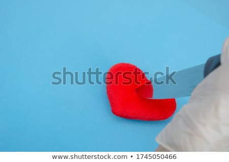 Stock photo: Red Demon Heart Shape Hands