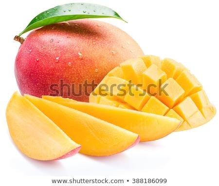 mango · frutas · cubos · rebanadas · alimentos · hoja - foto stock © ungpaoman