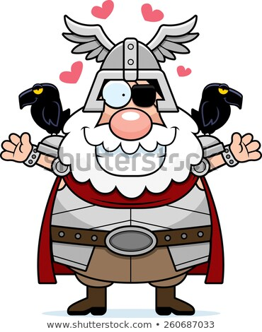 Stock photo: Cartoon Odin Hug