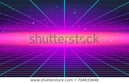 Bright neon grid lines glowing background with 80s style Stock photo © SwillSkill