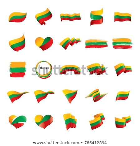 Litvánia zászló fehér világ háttér zöld Stock fotó © butenkow