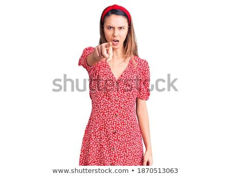 argumento · jóvenes · inteligentes · personas · Pareja · mujer - foto stock © deandrobot
