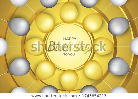 altın · balonlar · düşen · konfeti · tatil · renkli - stok fotoğraf © olehsvetiukha