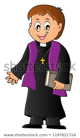 Young priest topic image 1 Stock photo © clairev