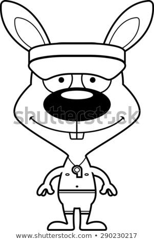 漫画 笑みを浮かべて ライフガード バニー 帽子 ストックフォト © cthoman