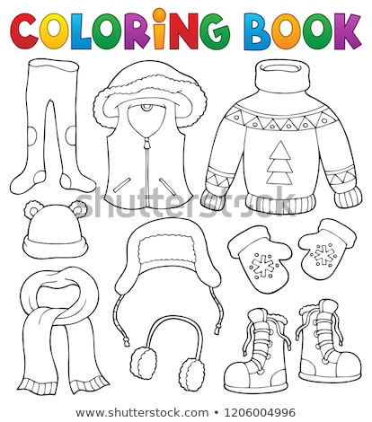 Foto stock: Winter Clothes Topic Set 2